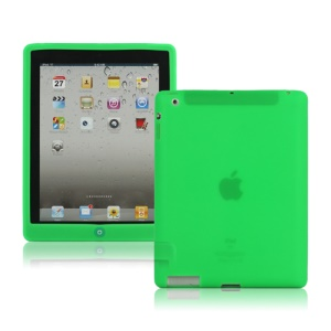 New iPad 2nd 3rd 4th Gen Silicone Case Skin Cover with Home Button - Green