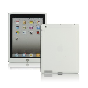 New iPad 2nd 3rd 4th Gen Silicone Case Skin Cover with Home Button - White