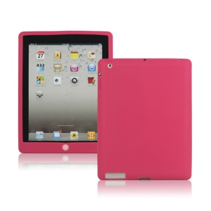 New iPad 2nd 3rd 4th Gen Silicone Case Skin Cover with Home Button - Rose