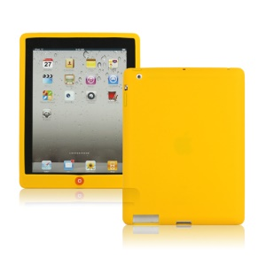 New iPad 2nd 3rd 4th Gen Silicone Case Skin Cover with Home Button - Yellow