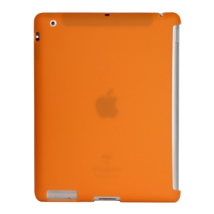 Naked Smart Cover Companion Silicone Case for New iPad 2nd 3rd 4th Gen - Orange