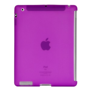 Naked Smart Cover Companion Silicone Case for New iPad 2nd 3rd 4th Gen - Purple