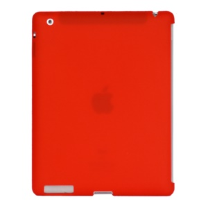 Naked Smart Cover Companion Silicone Case for New iPad 2nd 3rd 4th Gen - Red