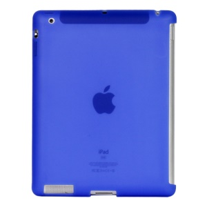 Naked Smart Cover Companion Silicone Case for New iPad 2nd 3rd 4th Gen - Dark Blue