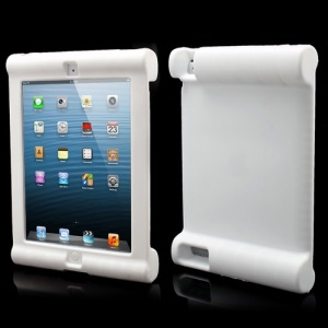Impact &amp;amp; Shock Resistant Easy Hold Soft Silicone Case for New iPad 2nd 3rd 4th Gen - White