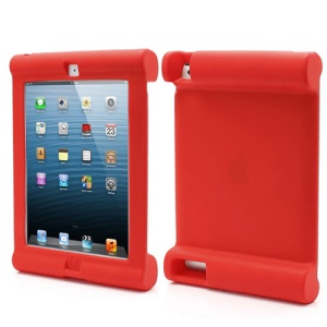 Impact &amp;amp; Shock Resistant Easy Hold Soft Silicone Case for New iPad 2nd 3rd 4th Gen - Red