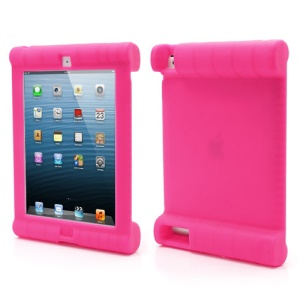 Impact &amp; Shock Resistant Easy Hold Soft Silicone Case for New iPad 2nd 3rd 4th Gen - Rose