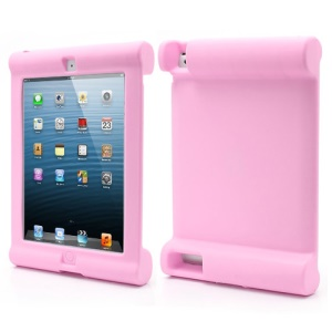 Impact & Shock Resistant Easy Hold Soft Silicone Case for New iPad 2nd 3rd 4th Gen - Pink