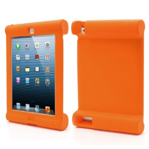 Impact & Shock Resistant Easy Hold Soft Silicone Case for New iPad 2nd 3rd 4th Gen - Orange