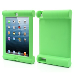 Impact & Shock Resistant Easy Hold Soft Silicone Case for New iPad 2nd 3rd 4th Gen - Green