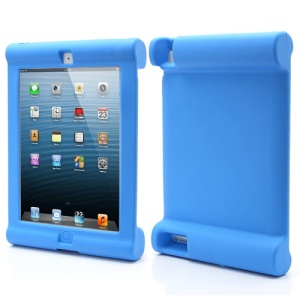 Impact &amp;amp; Shock Resistant Easy Hold Soft Silicone Case for New iPad 2nd 3rd 4th Gen - Blue