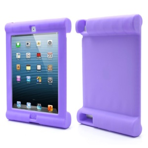 Impact & Shock Resistant Easy Hold Soft Silicone Case for New iPad 2nd 3rd 4th Gen - Purple