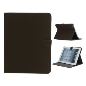 Vintage Smooth Matte Leather Stand Case Cover for The New iPad 3 iPad 2 4 - Coffee
