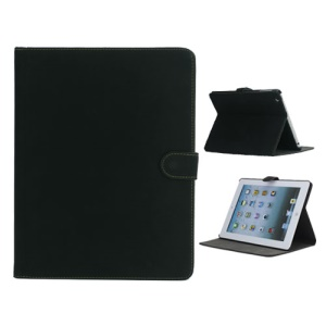 Vintage Smooth Matte Leather Case Cover with Stand for The New iPad 3 iPad 2 4 - Black