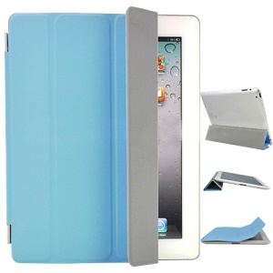 Fabulous Leather Smart Cover for The New iPad iPad 3rd Generation - Blue