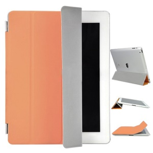 iPad 3rd Generation The New iPad Leather Smart Cover - Orange