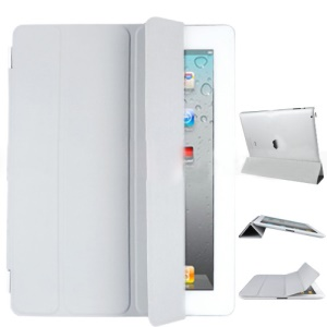 Fabulous Leather Smart Cover for The New iPad iPad 3rd Generation - Grey