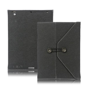 Jeans Cool Style Leather Case Handbag for New iPad 3rd 2nd 4th Generation - Black