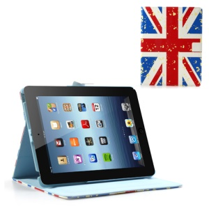 UK British Flag South Korea Style Magnetic Leather Case Smart Wake Sleep Stand for iPad 2 3 4