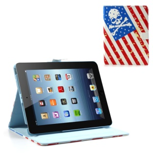 Skeleton Head South Korea Style Magnetic Leather Case Smart Wake Sleep Stand for iPad 2 3 4