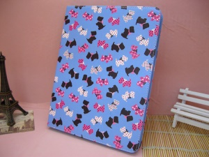 Lovely Dogs Pattern Leather Flip Cover with Stand for iPad 4 / 3 / 2