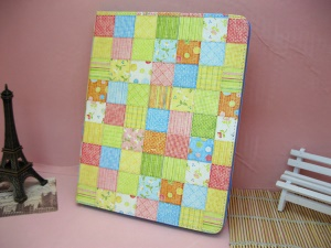 Fresh Checker Flower for iPad 4 / 3 / 2 Leather Flip Cover with Stand