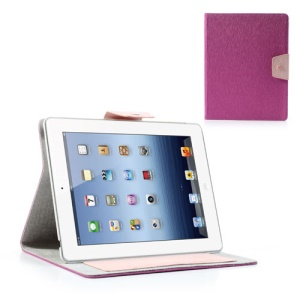 Ardium Toothpick Grain Wallet Leather Stand Case for iPad 2 3 4 - Rose
