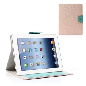 Ardium for iPad 2 3 4 Wallet Leather Case Cover Toothpick Grain - Pink