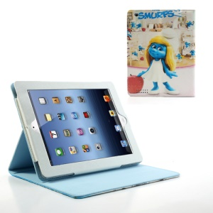 The Smurfs 2 Smurfette Leather Case Stand for iPad 2 / The New iPad / iPad 4