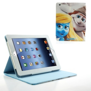 The Smurfs 2 Smurfette & Hackus Leather Stand Cover for iPad 2 / 3 / 4