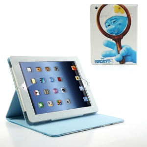 The Hefty Smurf Leather Case Shell w/ Stand for iPad 2 / 3 / 4