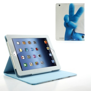 The Smurfs 2 Scissorhands Leather Case w/ Stand for iPad 2 / The new iPad / iPad 4