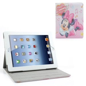 Lovely Minnie Mouse Leather Stand Cover for iPad 2 / 3 / 4