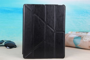 Black KLX England Series for iPad 2 3 4 Y Shape Stand Leathe Cover