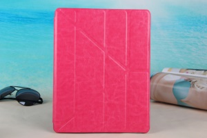 Rose KLX England Series for iPad 2 3 4 Y Shape Stand Leathe Cover