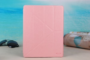 Pink KLX England Series for iPad 2 3 4 Y Shape Stand Leathe Cover