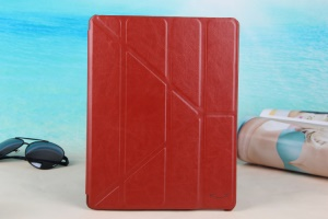 Brown KLX England Series for iPad 2 3 4 Y Shape Stand Leathe Case