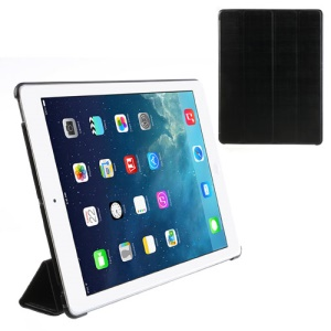 Black Fancy Four-Fold Stand Leather Case for iPad 2 3 4