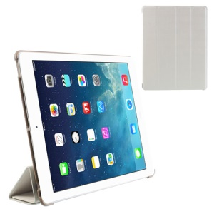 White Fancy Four-Fold Stand Leather Case for iPad 2 3 4
