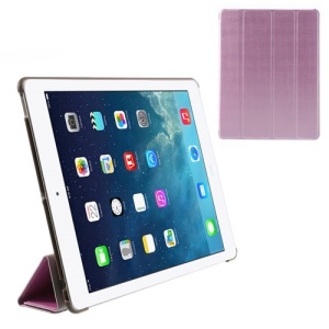 Pink Fancy Four-Fold Stand Leather Cover for iPad 2 3 4