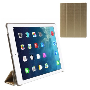 Champagne Fancy Four-Fold Stand Leather Cover for iPad 2 3 4