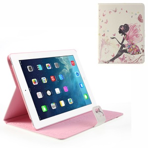 For iPad 4 3 2 Butterfly Maiden Glittery Rhinestone Pattern Smart Leather Shell