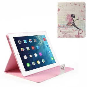 For iPad 4 3 2 Smart Leather Case Pretty Butterfly Fairy Rhinestone Design