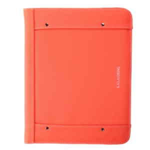 KLD Me Series Smart Awakening Leather Card Slot Cover Stand for iPad 2 3 4 - Orange