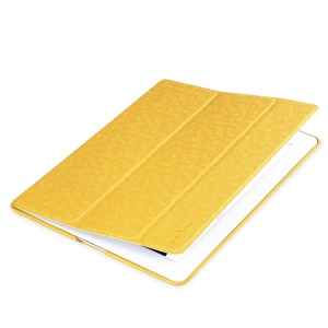 Takefans Brilliant Fashion Smart Leather Stand Case for iPad 2 3 4 - Yellow
