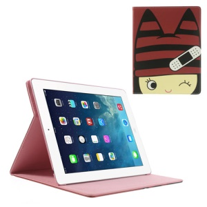 Little Girl Wearing Red Hat Smart Leather Stand Case for iPad 4 3 2