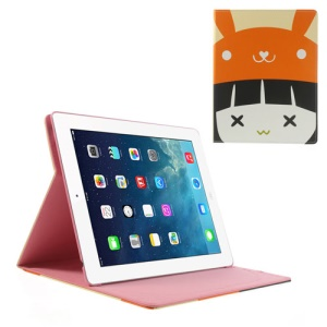 Little Girl Wearing Orange Hat Smart Leather Cover Stand for iPad 4 3 2