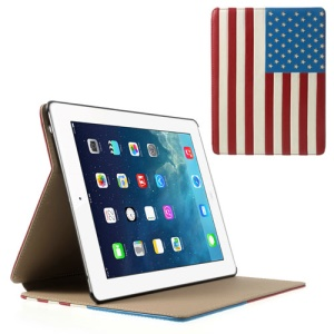 USA American National Flag Smart Leather Stand Case for iPad 4 3 2