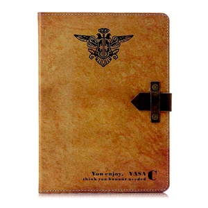 Two-headed Bird Folio Stand Smart Leather Shell for iPad 4 3 2 w/ Genuine Leather Magnetic Flap