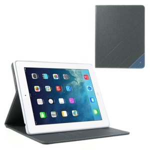 Krcase Sand-like Texture 3 Card Slots Smart Leather Cover Case for iPad 2 3 4 - Grey